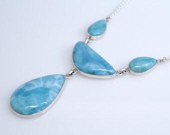 Larimar Necklace, Larimar Jewelry for Women, Atlantis Necklace