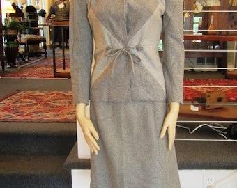 Vintage 2 Tone Grey Wool Suit, Etta James Collection,  ca 1960s