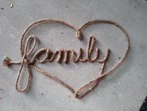 Western Rope Art- Family Love