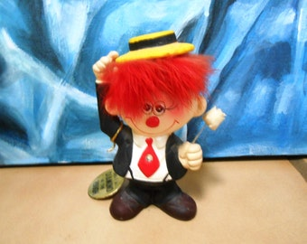 "Enesco Red Headed Clown ""Diamond in the Rough"""