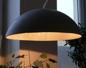 concrete lamp martha 50, inside gold
