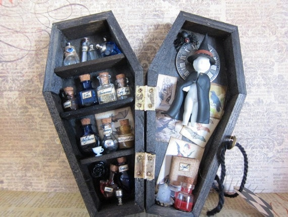 Witching Hour Miniature Coffin Shadow Box