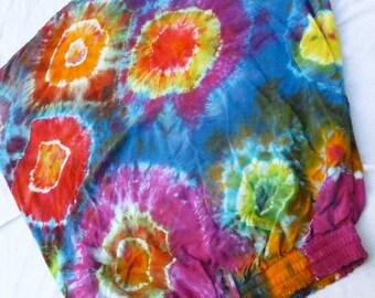 Funky Fun Tie Dye Maxi Skirt With Pockets Size L/XL