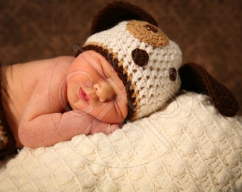 Boys Crochet Puppy Hat - Beanie