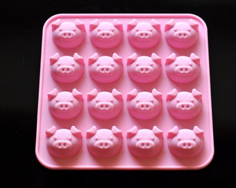 16 Cute Piggy Silicone Molds Cake Cookie Chocolate Candy Mould