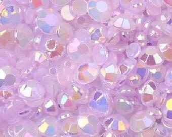 3mm -- 500 pcs AB Jelly Resin Flatback Rhinestones -- Lavender