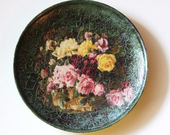 Decorative Decoupage Plate