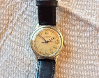 Ultra Rare Vintage 1930s Watch, Men's Swiss Watch, Early 'Bumper' Automatic, Free Shipping