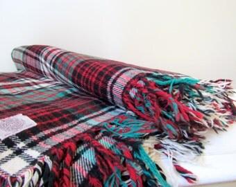 Vintage Jack Frost Pure Wool Throw Blanket, Salt Lake City, 1950's