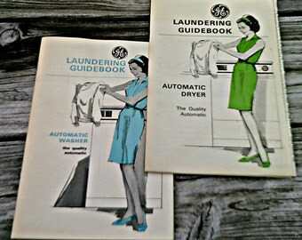 Vintage GE Automatic Appliance Booklets Washer Dryer Household Tips 1960