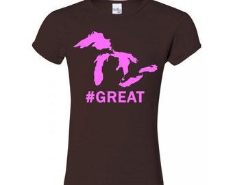 Girls Michigan Great Lakes Shirt.  #Great