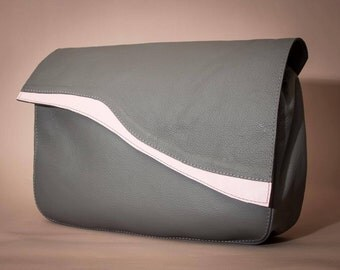 SALE!! Big leather clutch bag