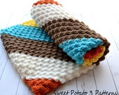 PATTERN Diagonal Delights Blanket - Baby Crochet