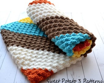 PATTERN Diagonal Delights Blanket - Baby Crochet