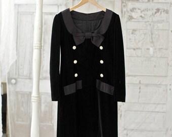 Vintage Givenchy Dress, Givenchy, Givenchy Couture, Vintage Dress, Vintage Designer Dress, Highend, Designer, Couture, Black Velvet Dress