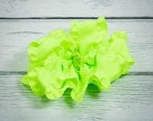 PRICE CUT: Neon Lime Double Ruffle Boutique Bow