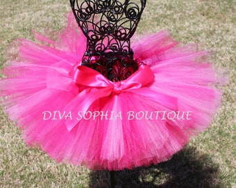 Hot Pink Tutu - Newborn Baby Infant Tutu - Toddler Tutu