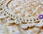 Crochet Collar Necklace - Cream White Cotton - Ready to Ship - Cotton Crochet Lace Jewelry - FREE SHIPPING - Crochet Trends Finds Gift Ideas