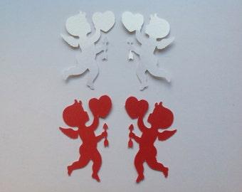 24 Die Cut Valentine Cupids (846)