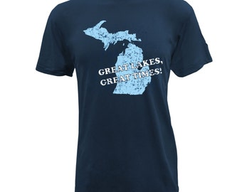 UGP - Great Lakes Great Times - Unisex T Shirt - Navy