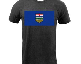 Alberta Provincial Flag - Tri Black