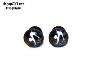 FELINE FINE Cheater Ear Plugs Or Stretcher Plugs - 12mm OD - A ShopAtLuxe Original