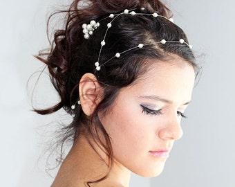 Wedding Pearl  headband, Pearl Bridal Hair, Wedding Hair Accessories, Pearl Headband, Pearl Wedding, Bridal Hair Accessory