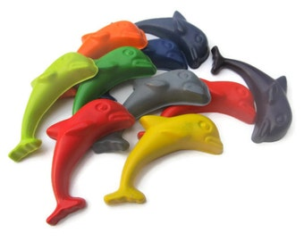 Jumbo Dolphin Crayons set of 20 - Party favors