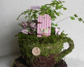 TINY Fairy Door accessories for miniature garden with fairy carnation pink
