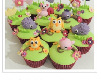 Owls & Critters Cupcakes PDF Tutorial