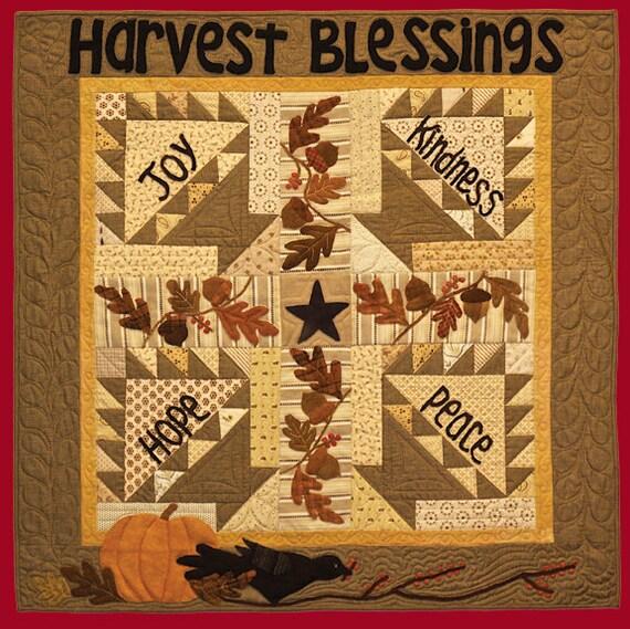 Primitive Folk Art Quilt Pattern Best Of All : Primitive Folk Art Quilt Pattern Harvest Blessings Quilt