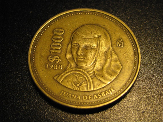 Mexico 1988 1000 Peso Coin By Myvints On Etsy