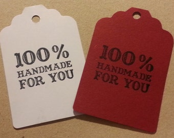 30 tags HANDMADE FOR YOU - choose the color you like!