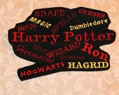 Harry Potter Word Cloud Iron On Embroidery Patch MTCoffinz
