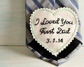 Personalized Tie Patch. Father of the Bride gift. Necktie. Gift for Dad. Tie Patch. Mens tie. Groom Gift. Hand Stitched Wedding Tie Patch.