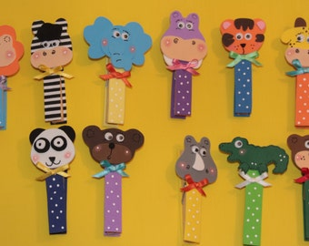Clothes PEG decorated (6 to 96 units kit) with back Magnet