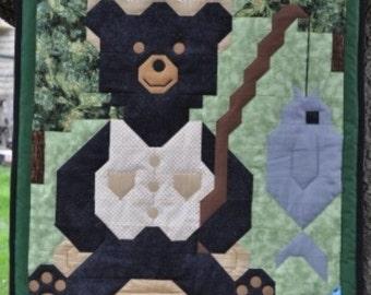 Fishing Bear Quilt Pattern