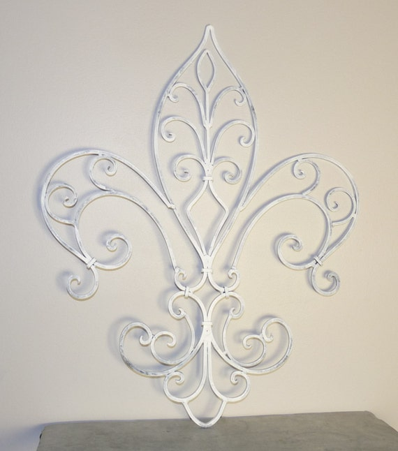 Fleur De Lis Wrought Iron Wall Decor French Country Home
