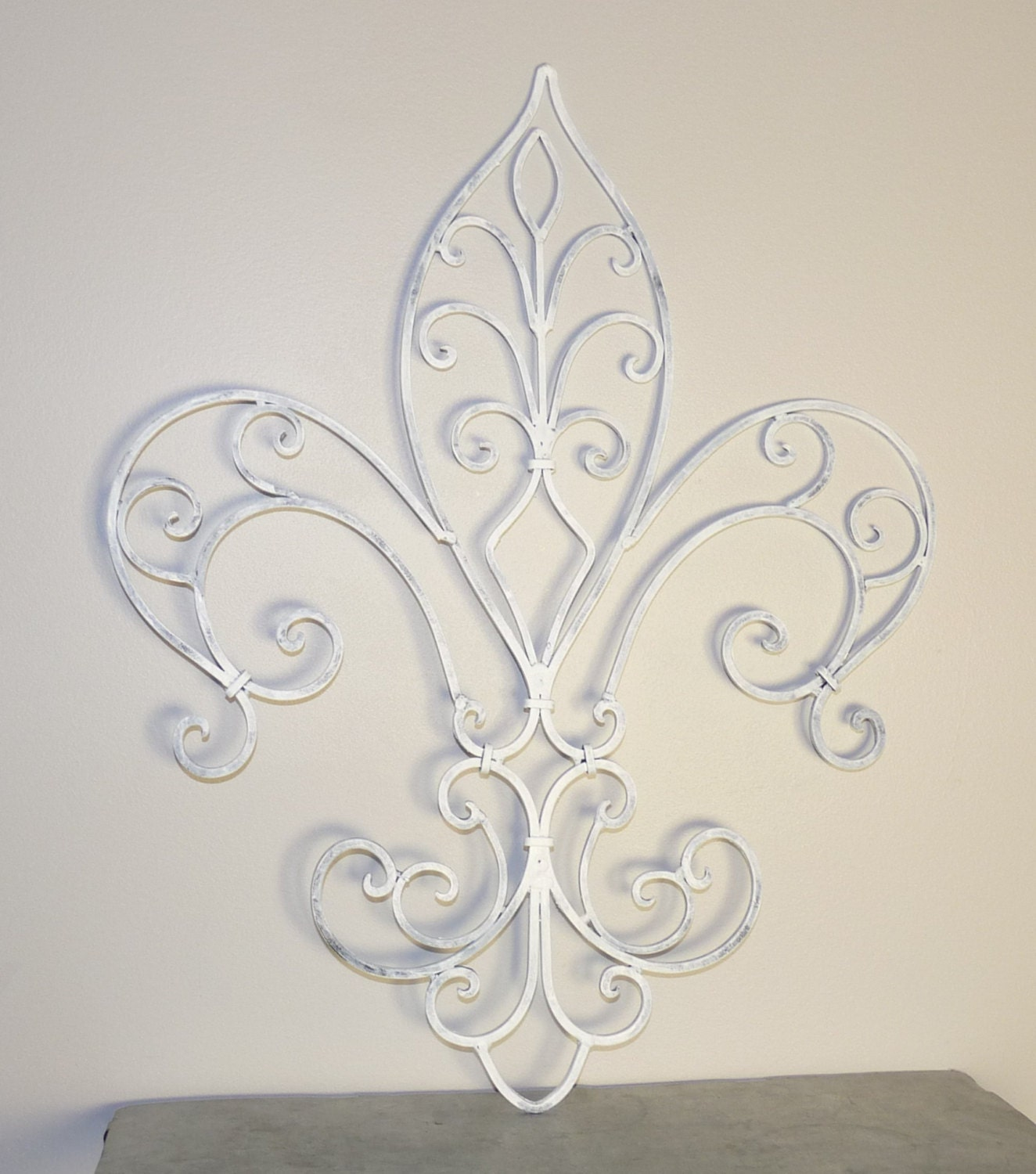 Fleur de lis wrought iron wall decor french country home for Fleur de lis home decorations