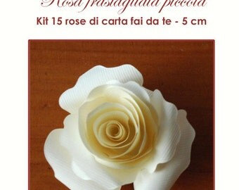 Kit 15 rose di carta piccole