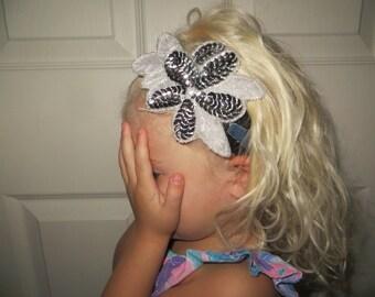 Denim Glitter Headband