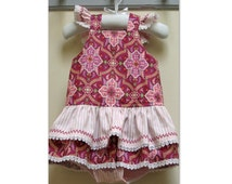 Sewing pattern TINKERBELLE ROMPER baby girls romper pdf sewing pattern sizes to fit 3 months to 3 years, Felicity Sewing Patterns