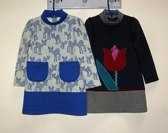 Sewing pattern TULIP DRESS girls pdf dress sewing pattern sizes 1-12 years by Felicity Patterns, downloadable sewing pattern