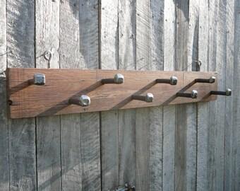Large Hardwood 8 Peg Coat Rack