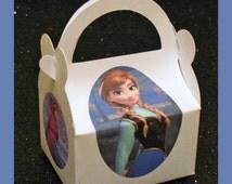 frozen anna party favor box,  princess anna birthday favor box, frozen anna theme box, disney frozen favors