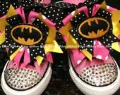 Batgirl Bling Converse shoes