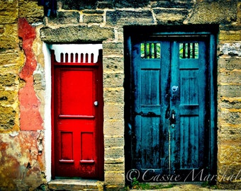 His & Hers.  St Augustine, FL door print