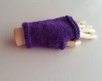 Fingerless gloves, kids gloves, childrens gloves, orange, purple, yellow mittens, childs mittens