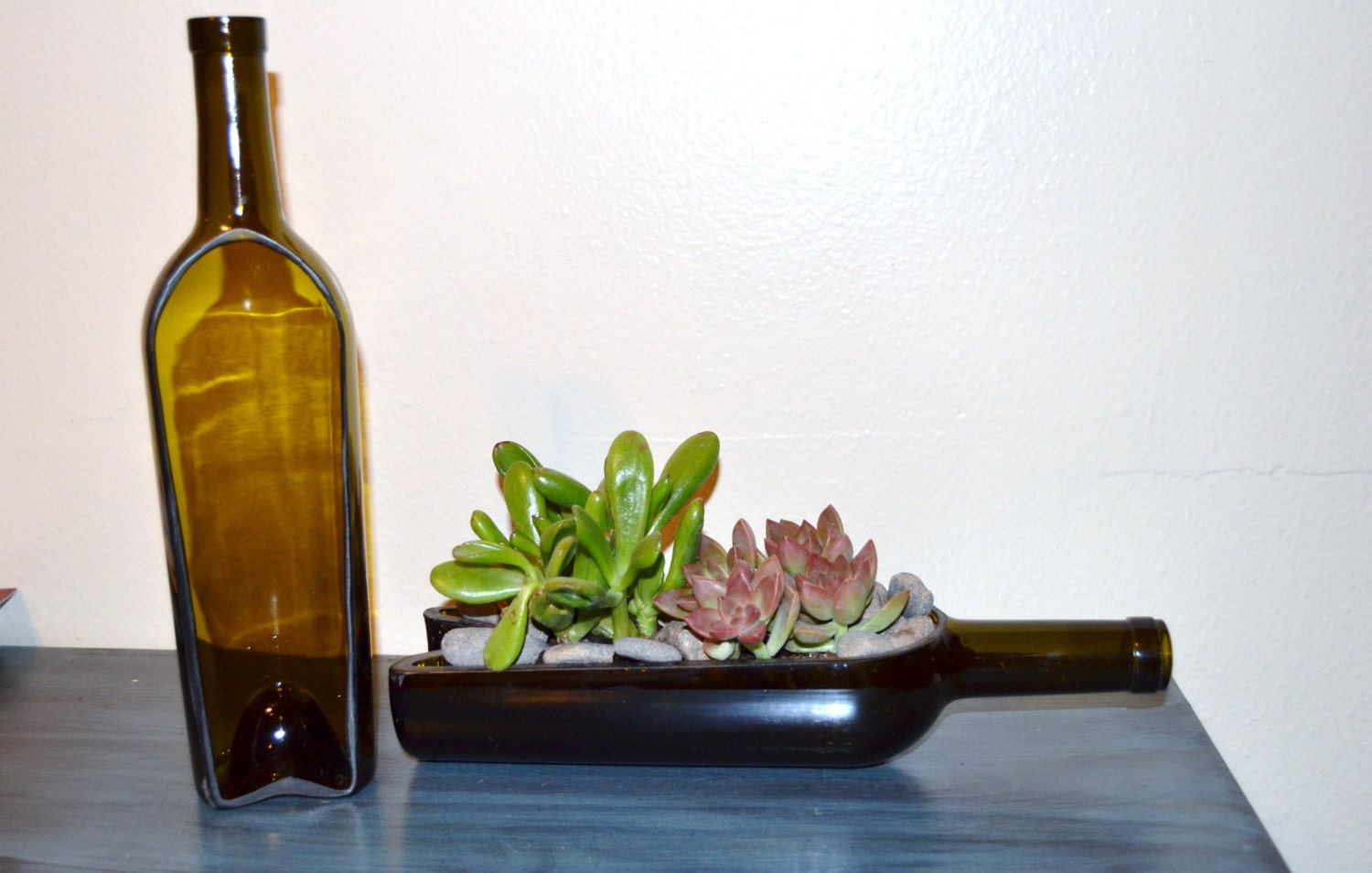 wine bottle garden succulent cacti planter