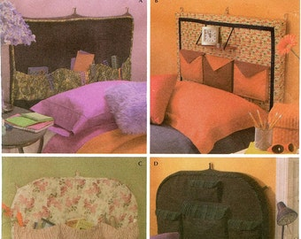Twin or Full Size Headboards - Simplicity Sewing Pattern 4527 Simply Teen - Home Decorating